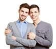 Zwei glückliche gay Teenager