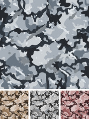 Seamless Complex Military Night Camouflage