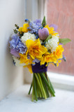 wedding bouquet of spring flowers