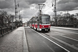 tram in the city of Prague - 51386970