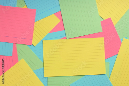 Multicolored Notecard Background