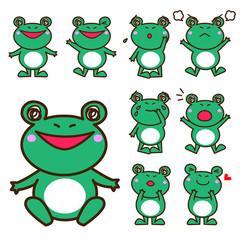 カエルのキャラクター セット