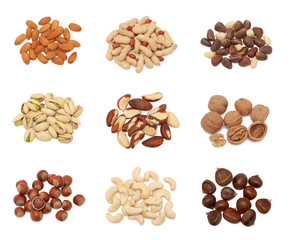 Stacks of nuts collection