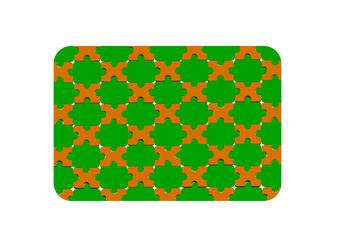 Kahve yeşil puzle