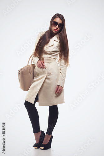 Fashion girl with handbag