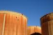 Alsace, oil tank in the port of Strasbourg