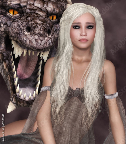 Tuinposter Draken Lady Dragon