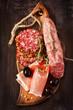 Ham and salami.