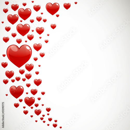 Vector Illustration of Decorative Red Hearts