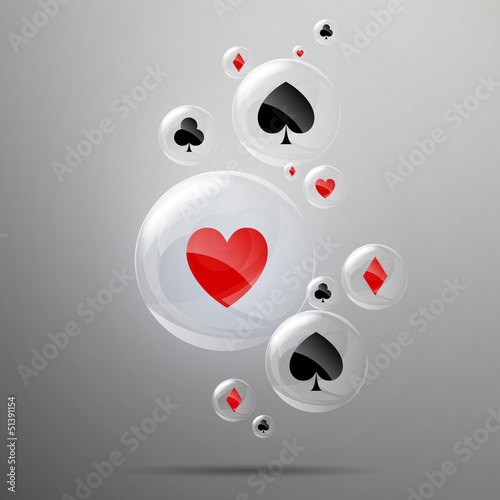 Vector Illustration of a Background with Playing Card Suits