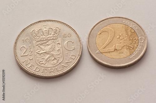 dutch guilder and euro