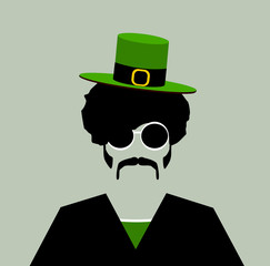 man with small irish hat