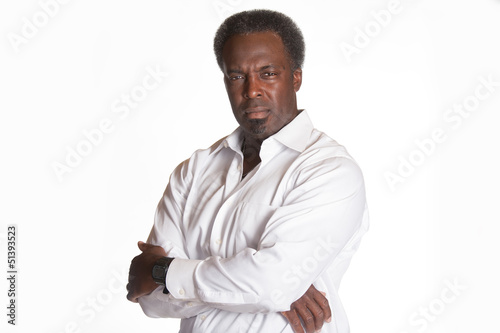 african american portrait of male boss