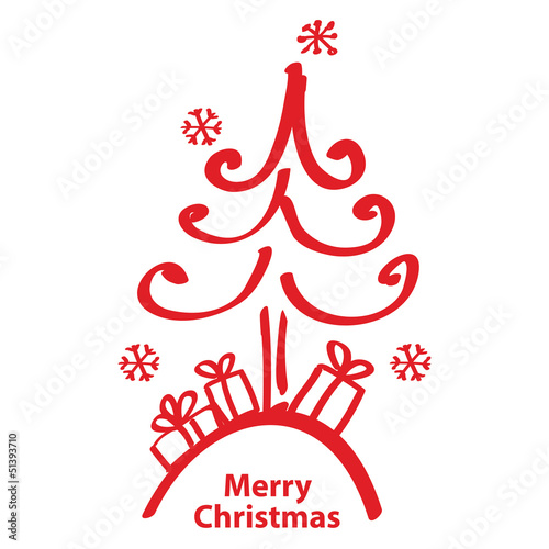 vector illustration Merry Christmas