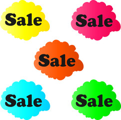 Sale Banner Cloud Symbol