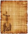 Obrazy na płótnie, fototapety, zdjęcia, fotoobrazy drukowane : Crucifixion of Christ Parchment