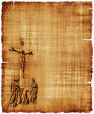 Crucifixion of Christ Parchment
