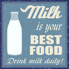 Milk is your best food