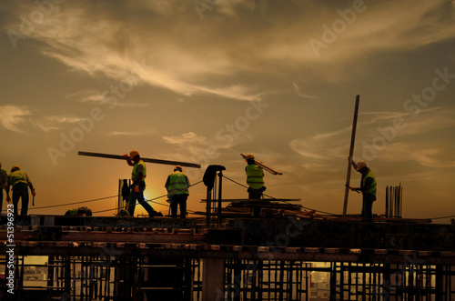canvas print picture Energetic Workers