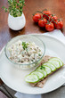 Smoked mackerel pate and  crisp bread with cucumber