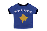 Small shirt with Kosovo flag isolated on white background poster