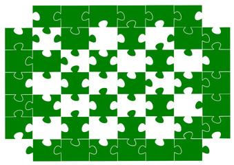 Yeşil eksik puzzle