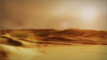 (1280) Sahara arabian desert sand storm dunes environment sunset