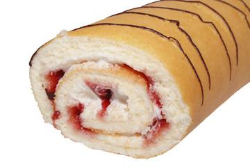 Erdbeer-Sahnerolle