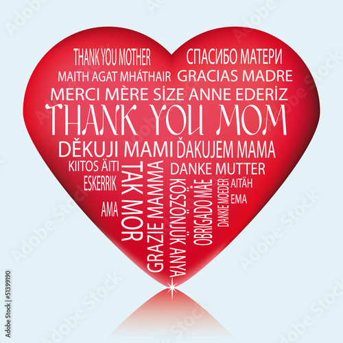 Heart - Thank you mother