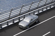 luxury sport sedan car on a bridge 3d rendering