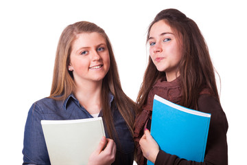 Two Female Teenage Students