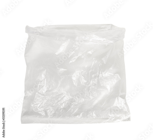 Plastic bag isolated on white background