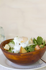 Poached Egg Ceasar Salad
