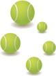 Постер, плакат: Теннисные мячи разного размера