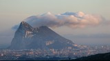 Levant cloud hanging over the Rock of Gibraltar