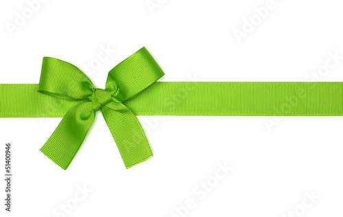 green  ribbon bow