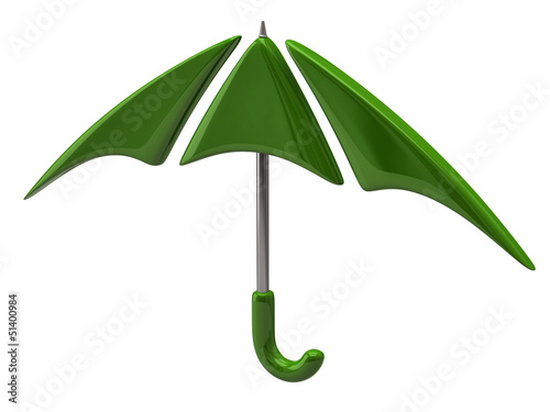 Green umbrella icon
