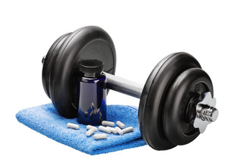 Dumbbells and pills