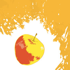 Sweet Apple on a abstract background