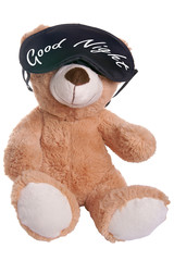 Teddy with sleep mask and the words Good Night