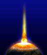 Erde Komet Einschlag Pol