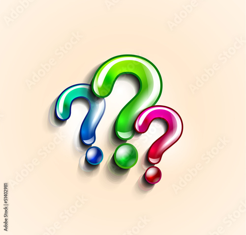 Colorful question marks design template