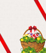 Easter Basket on a beige background