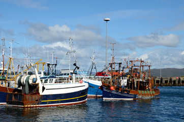 Fishing boats at Mallaig harbour