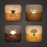 Food and drink application icons