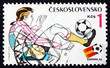Postage stamp Czechoslovakia 1982 Soccer Player