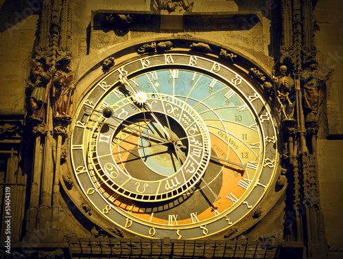 antique astronomical clock