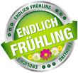 """Button Banner """"Endlich Frühling"""" grün/silber"""