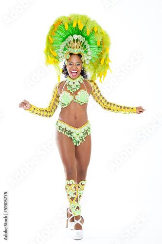 Poster Brazilian Samba Dancer