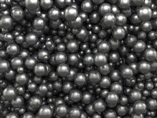 abstract black caviar balls background © wacomka